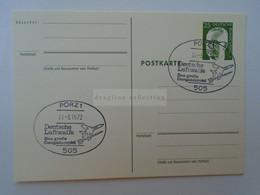 D181466   Postal Stationery Ganzsache -PORZ  -Deutsche Luftwaffe   1972 - Cartes Postales - Oblitérées