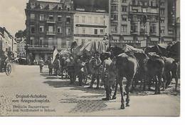 182REF/ CP-PK Deutsche Bagagewagen Vor Dem Nordbahnhof In Brüssel MINT - Esercito Tedesco