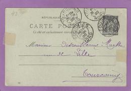 CARTE POSTALE DE FOURMIES POUR TOURCOING . - Standaardpostkaarten En TSC (Voor 1995)
