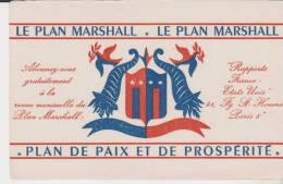 Buvard Le Plan Marshall - M