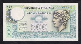 ITALY  P. 95 500 L 1976 UNC - 500 Liras