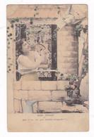 CPA Mimi Pinson, Femme, Oiseau, Message… Années 1910 - Donne