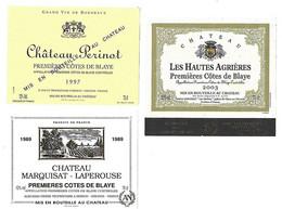 Lot De 6 étiquettes De  Premières Côtes De Blaye    Neuves - Bordeaux