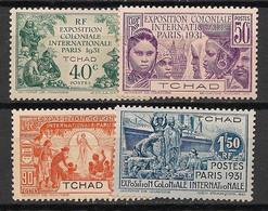 Tchad - 1931 - N°Yv. 56 à 59 - Série Complète - Neuf* / MH VF - Ongebruikt
