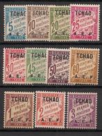 Tchad - 1928 - Taxe TT N°Yv. 1 à 11 - Série Complète - Neuf* / MH VF - Ongebruikt