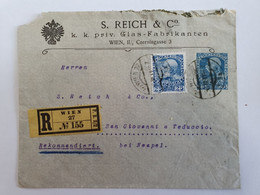 Austria Autriche R-Cover With Additional Stamp With Perfin Firmenlochung - Entiers Postaux