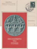 DR - Reichsparteitag Nürnberg 1937 Farb. Festpostkarte M. SST - Briefe U. Dokumente