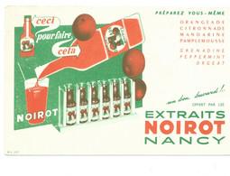 BUVARD NOIROT NANCY Orangeade Etc...Bien Voir Les 2 Scans - Sprudel & Limonade
