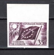 FRANCE SERVICE  N° 20 ESSAI DE COULEUR   NON DENTELE  NEUF SANS CHARNIERE  COTE  ?   CONSEIL DE L'EUROPE - Imperforates