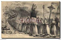 """CPA Marseille N D De La Garde Procession Des Penitents 1835"""" - Notre-Dame De La Garde, Ascenseur"""