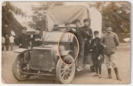 ARMEE Française - Photo Carte - Véhicule Militaire Et Leurs Servants - War 1914-18