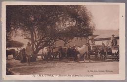 CPA Coloniale - Madagascar - Majunga - Station Des Charrettes à Boeufs - Circulée - Madagascar