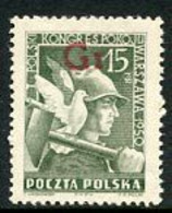 POLAND 1950 Currency Reform Handstamp On Peace Congress, MNH / **.  Michel 667 - Nuevos