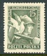 POLAND 1950  Peace Congress, MNH / **.  Michel 564 - Nuevos