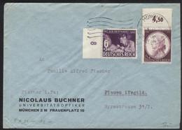 MiF Deutsches Reich   Mi 811 + 810 Gest 3.12.42 München Fernbrief HK024 - Storia Postale