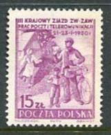 POLAND 1950  Postal Employees' Congress. MNH / **.  Michel 544 - Nuovi