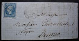Mauléon-Soule 1864 Gc 2276 Lettre Pour Mr Curutchet à Lanne - 1849-1876: Période Classique