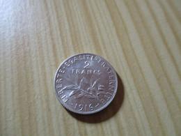 France - Superbe 2 Francs Semeuse 1916 En Argent.N°3018. - I. 2 Franchi