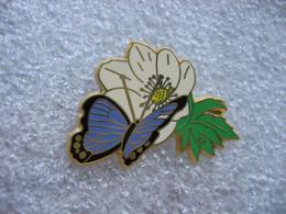 Pin's Beau Papillon En Train De Butiner Une Fleur - Animaux