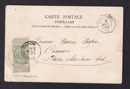 DDZ 863 - Carte-Vue TP Armoiries LIEGE 1902 Vers CHARLEROI - Griffe De Gare D' Origine Cachet Télégraphique De HAUT-PRE - Telegraph