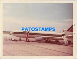 164936 AVIATION AVION ALITALIA AIRPORT PHOTO NO POSTAL POSTCARD - Ohne Zuordnung