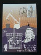 Carte Maximum Card Art Telegraphe Chappe Telegraphy Clermont Ferrand 63 Puy De Dome Ref 101574 - Telecom