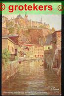 LUXEMBOURG Ville Basse Du Grund Et Ville Haute Oilette De N. Beraud 1924 - Lussemburgo - Città