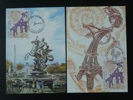 Carte Maximum Card (x2) Decaris Tour Eiffel Paris Ref 101699 - Gravures