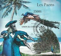 Isole Comore 2011 - Birds - Pavoni - Paons - Peacocks - CTO - Peacocks
