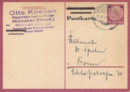 APPELHÜLSEN  -  1943  ,  Postkarte  Rückantwortteil  -  Nach Bonn - Stamped Stationery