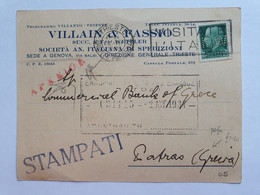 Italy, Card With Perfin Stamp  F.W. - Interi Postali