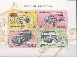Blok Roemenie 1996 Oblitérés / Used / Gestempeld - Auto's
