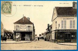 CPA 77 MORMANT - Rue D' Ozouer (Boucherie-Charcuterie ROBINOT + Boulangerie F. GILLARD) - Mormant