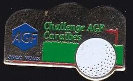 71868- Pin's-Challenge Agf Caraibes, Golf De Saint Francois.Guadeloupe - Golf