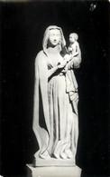 RELIGION - FOUGERES (35) COMMUNAUTÉ DE RILLÉ, NOTRE DAME DE RILLÉ, STATUE CLASSÉE , EN GRÈS XVI Es - ÉCRITE EN 1989 - - Pinturas, Vidrieras Y Estatuas
