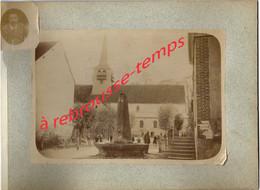 RARE-vers 1892- CONGY (51)-Paulin PERBAL De Congy 540 âmes, Instituteur-une Classe En Récréation Devant L'église - Lieux