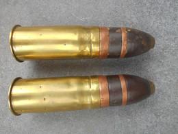 2 Douilles Et Obus 37 Mm British VSM Ww1 - Armi Da Collezione
