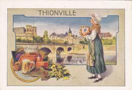 (24)     THIONVILLE  (11 X 7,5 Cms) Dos Pub Chocolat J. Moreau - Thionville