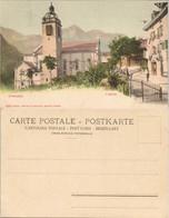 Ansichtskarte Champéry Kirche (Eglise) Dorf Partie Blick Zu Den Bergen 1900 - VS Valais