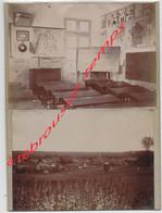 RARE-en 1894- CONGY (51)-Paulin PERBAL De Congy 540 âmes à Cette époque, Instituteur-sa Classe-vue Générale Du Village - Lieux