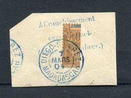 !!! MADAGASCAR, N°81 OBLITERATION SUPERBE SUR FRAGMENT - Used Stamps
