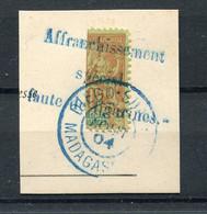 !!! MADAGASCAR, N°84 OBLITERATION SUPERBE SUR FRAGMENT - Used Stamps