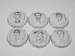 Série De 6 Capsules De Champagne PIOLLOT Père Et Fils N°16 Au 16.e - Collections