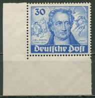 Berlin 1949 200. Geb. J. W. V. Goethe 63 Ecke Postfrisch, Haftstellen Im Rand - Ongebruikt