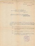 Proposition Candidature Au S.D.E.C.E. - 1946 - Zonder Classificatie