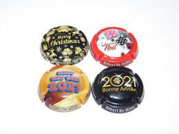 Série De 4 Capsules De Champagne ALBERT DE MILLY N°71 - Collections