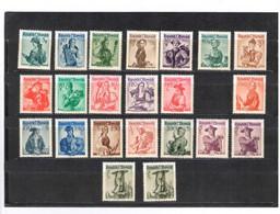 Dirndl 22 Marken Postfrisch - 1945-60 Unused Stamps