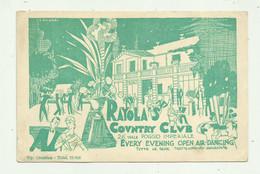RAYOLA'S COUNTRY CLUB , VIALE POGGIO IMPERIALE ILLUSTRATO G.MUGNAI - BIGLIETTO CM. 13,5X9 - Tickets - Vouchers