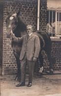 Fotokaart Carte Photo Alph. Van Eeckhout 43 Plaats Lauwe : Man Met Paard Cheval - Menen