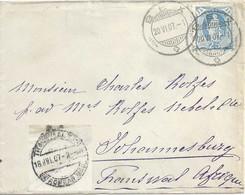 Ausland Brief  Bex - Johannesburg          1907 - Briefe U. Dokumente